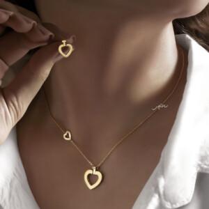 گردنبند طلا طرح قلب فرد ساده کد CN473