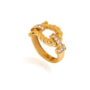 انگشتر طلا طرح فرد (پهن) کد CR531