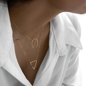 گردنبند طلا طرح هندسی مثلث کد CN479