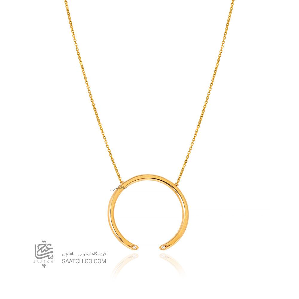گردنبند طلا طرح هندسی دایره کد CN478
