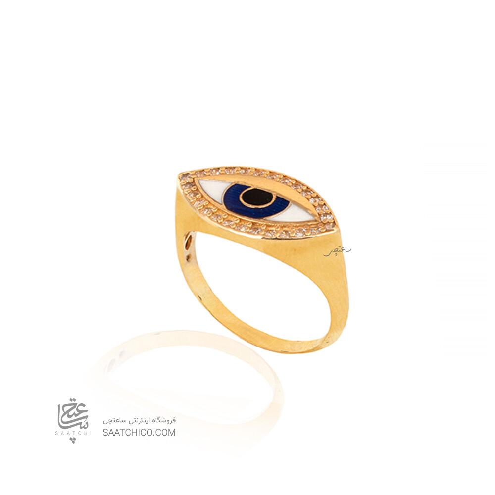 انگشتر طلا طرح چشم نظر کد CR530