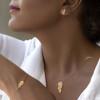 گردنبند طلا طرح پر کد LN884