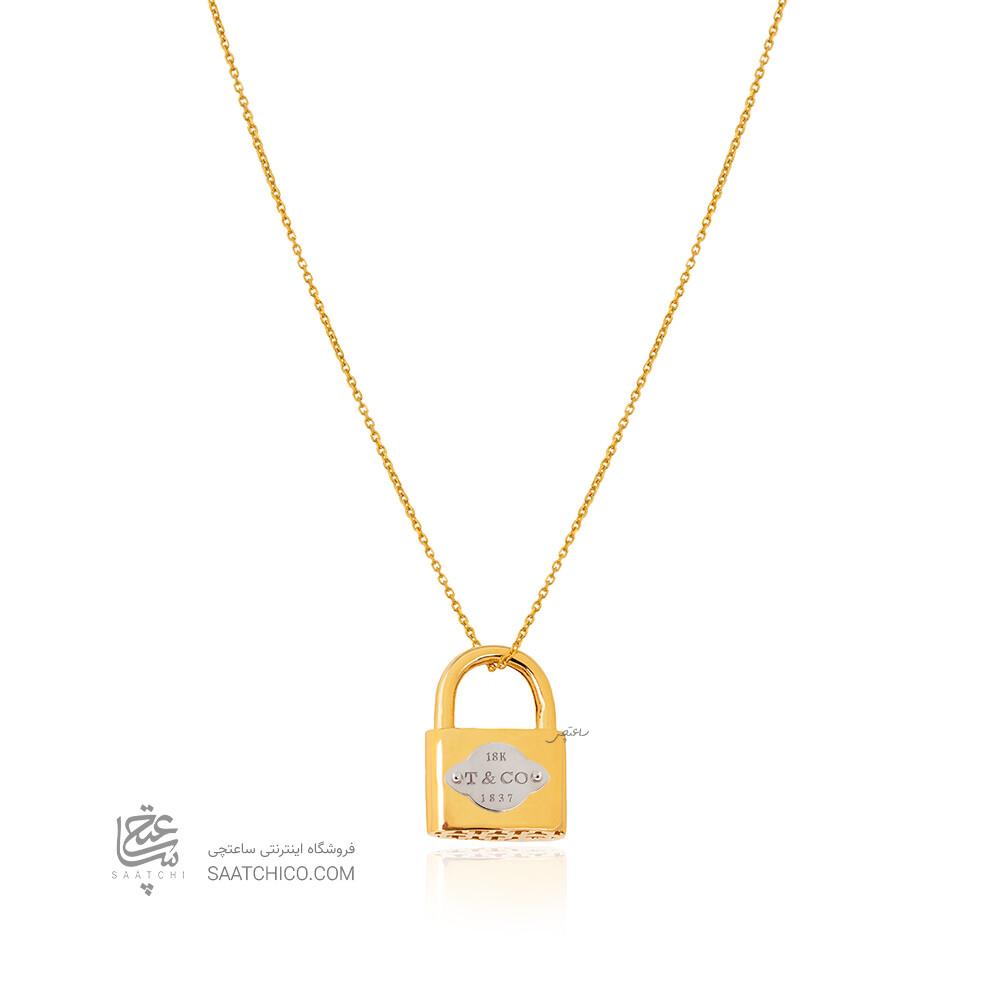 آویز طلا طرح قفل تیفانی کد CP360