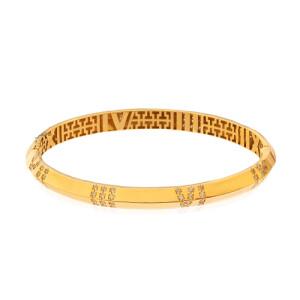 دستبند النگویی طلا طرح اطلس تیفانی (پهن) کد CB470