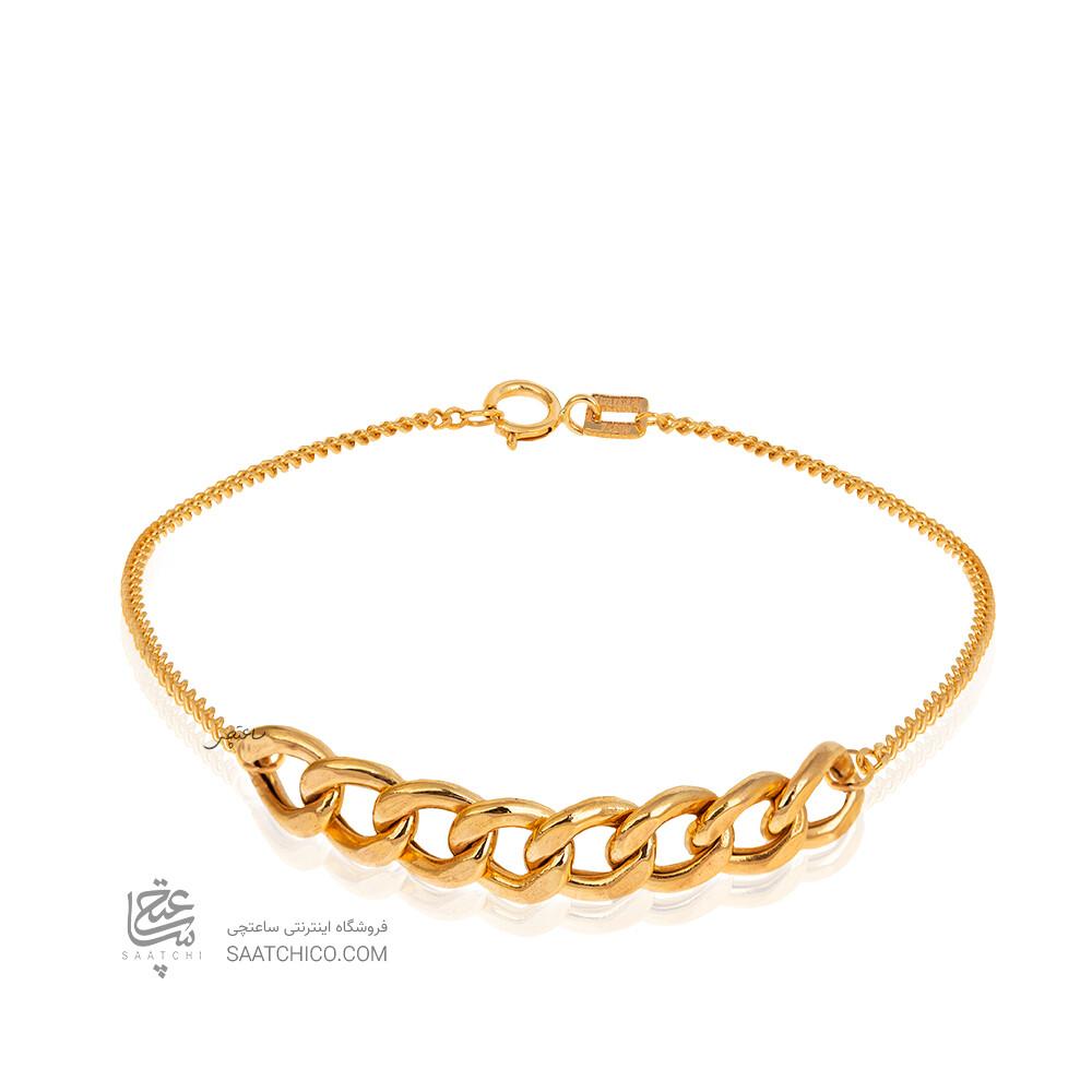 پابند طلا طرح زنجیر کارتیه کد CA416