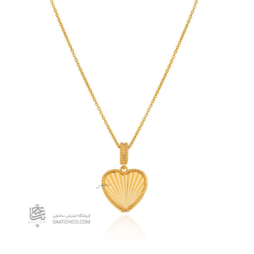 آویز طلا طرح قلب کد CP363