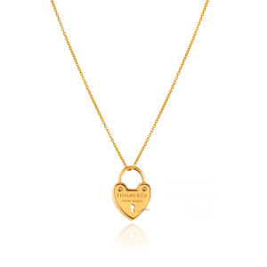 آویز طلا طرح قلب تیفانی کد CP366