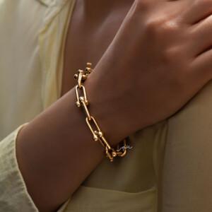 دستبند طلا طرح تیفانی کد CB475