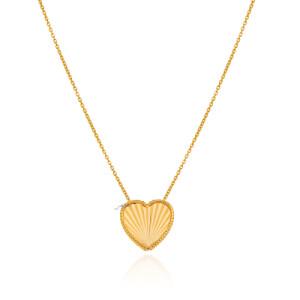 گرنبند طلا طرح قلب کد CN484