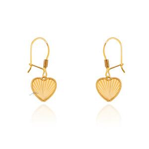 گوشواره طلا طرح قلب کد CE418