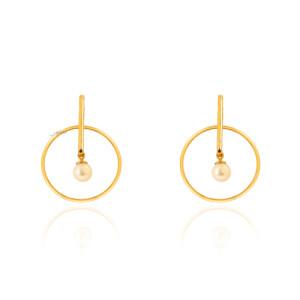 گوشواره طلا با مروارید کد XE274