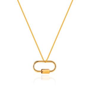 قفل طلا طرح مارلا آرون مدل ساده کد CP369