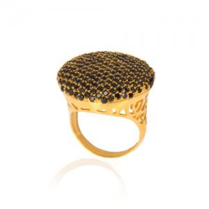 انگشتر طلا زنانه با نگین کد cr314
