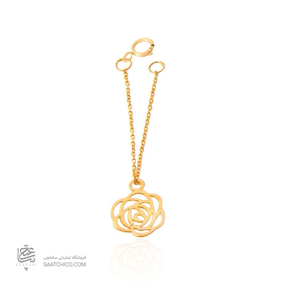 آویز ساعت طلا زنانه طرح گل شنل  کد WP301