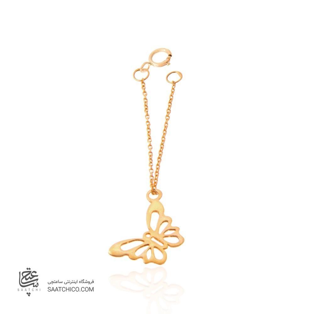 آویز ساعت طلا زنانه طرح پروانه کد WP303