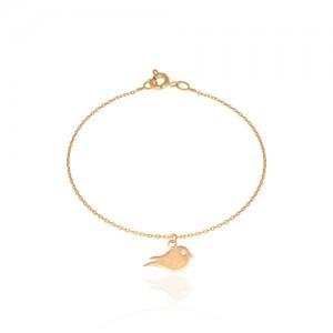 دستبند طلا کودک طرح پرنده کد KB306