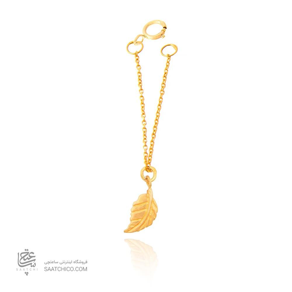آویز ساعت طلا زنانه طرح برگ کد WP304