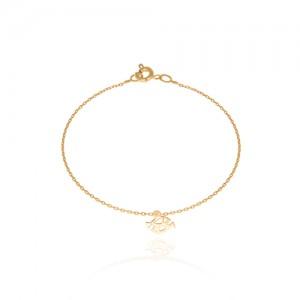 دستبند طلا کودک طرح ماهی کد KB312